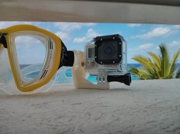 Scuba Mount for GoPro (all Models) in White Natural Versatile Plastic