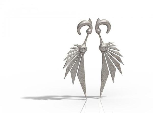 Bladewing Earrings - 4g in Polished Bronzed Silver Steel