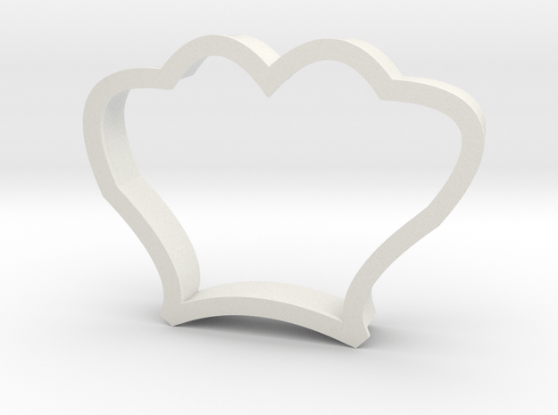 Seashell Cookie Cutter in White Natural Versatile Plastic