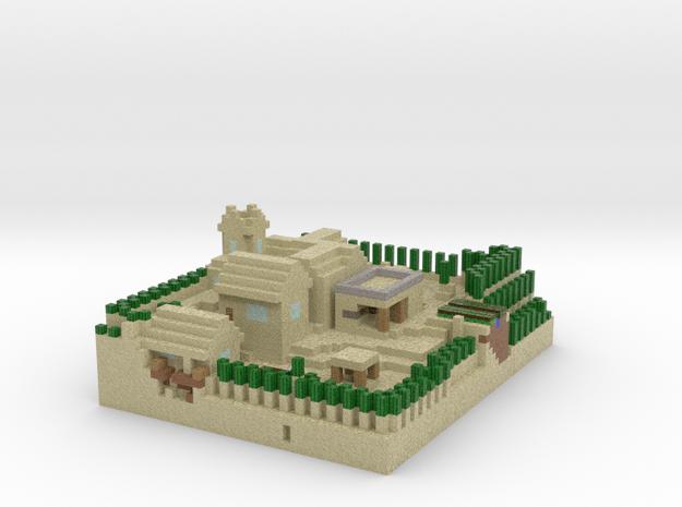 Minecraft Desert Village in Full Color Sandstone