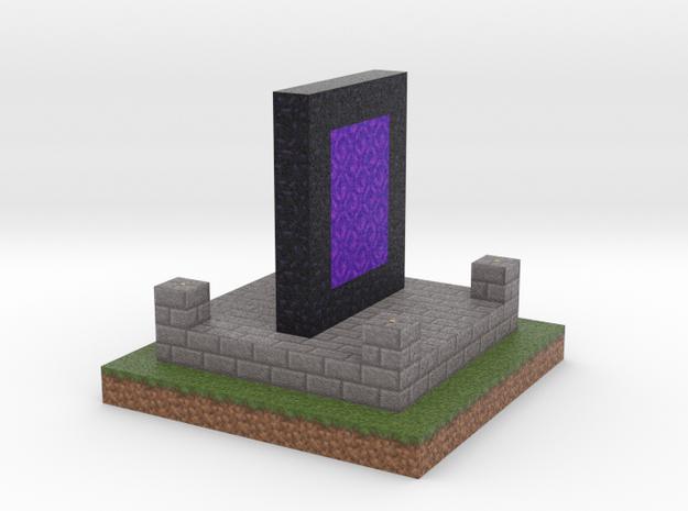 Minecraft Nether Portal  in Full Color Sandstone