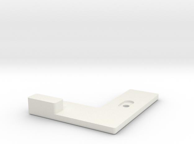 L-Shape Latch Handle - CAD in White Natural Versatile Plastic