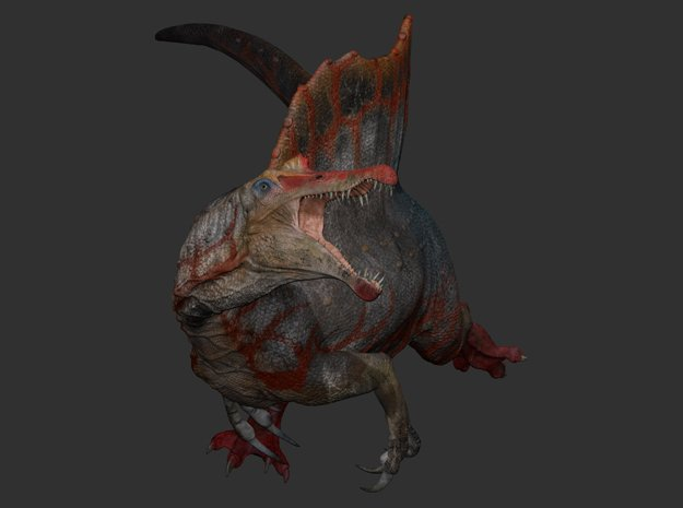Spinosaurus : swimming (1:35 / spine: 41cm) in White Natural Versatile Plastic