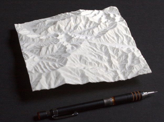 6'' Great Smoky Mountains, TN/NC, USA in White Natural Versatile Plastic