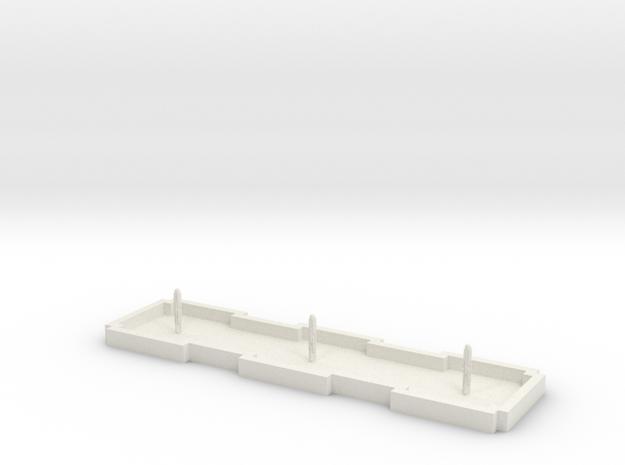 Zierbrunnen rechteckig 3 Fontainen in White Natural Versatile Plastic
