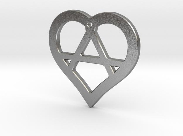 The Wild Heart (precious metal pendant) in Natural Silver