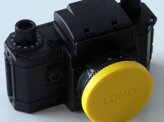 I3D KONSTRUKTOR DIY LENS CAP-1 in Red Processed Versatile Plastic