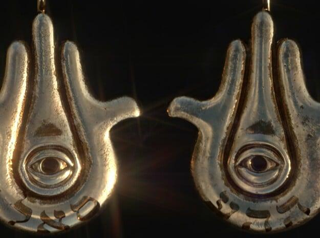 Modern Hamsa Earrings