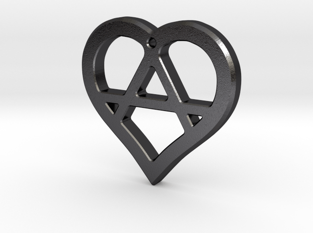 The Wild Heart (steel pendant) in Polished and Bronzed Black Steel