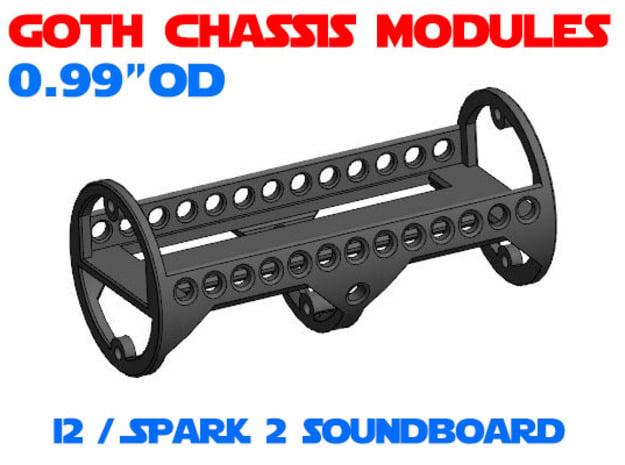 GCM099 - I2 / Spark 2 soundboard chassis in White Natural Versatile Plastic
