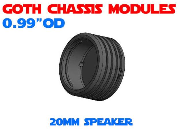 GCM099 - 20mm speaker chassis in White Natural Versatile Plastic