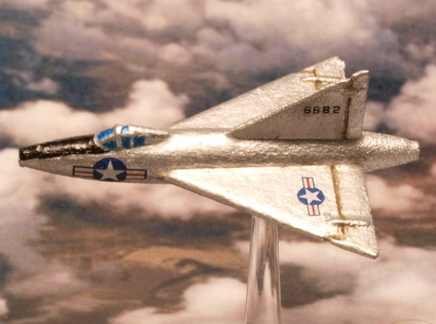 Convair XF-92A (2 airplanes, In Flight) 1/285 6mm in White Natural Versatile Plastic