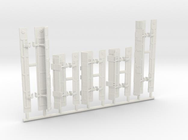 Opened Tri-Fold Bay Doors v2 for DeAgo Falcon in White Natural Versatile Plastic