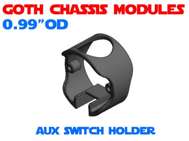 GCM099 - Aux Switch Holder - Chassis Lock in White Natural Versatile Plastic