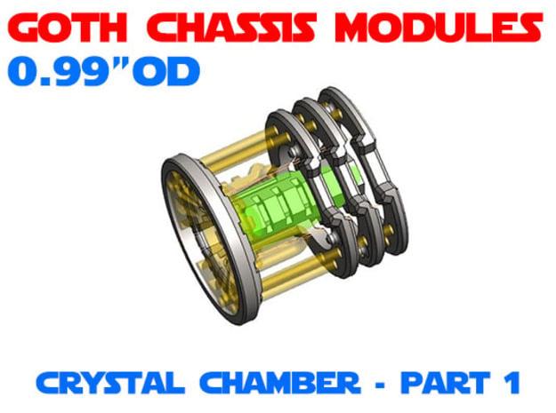 GCM099 - Crystal Chamber Part 1 - Shell in White Natural Versatile Plastic