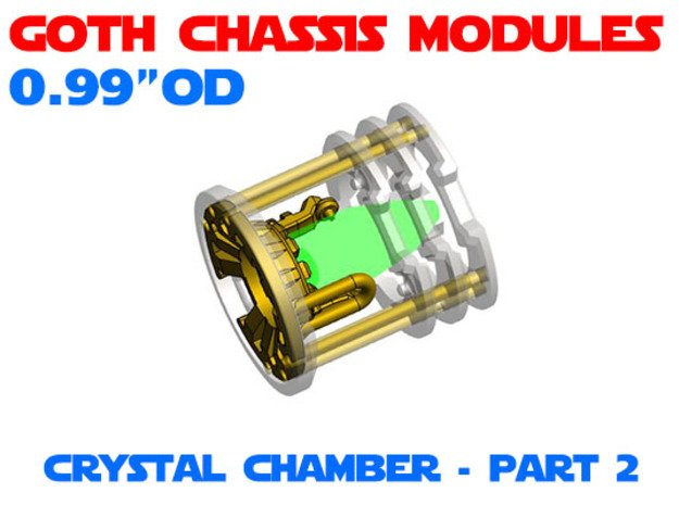 GCM099 - Crystal Chamber Part 2 - Insert in White Natural Versatile Plastic