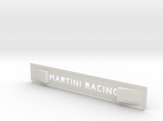 """Lancia Delta 1 """"Martini Racing"""" window Shield 1 in White Natural Versatile Plastic"""