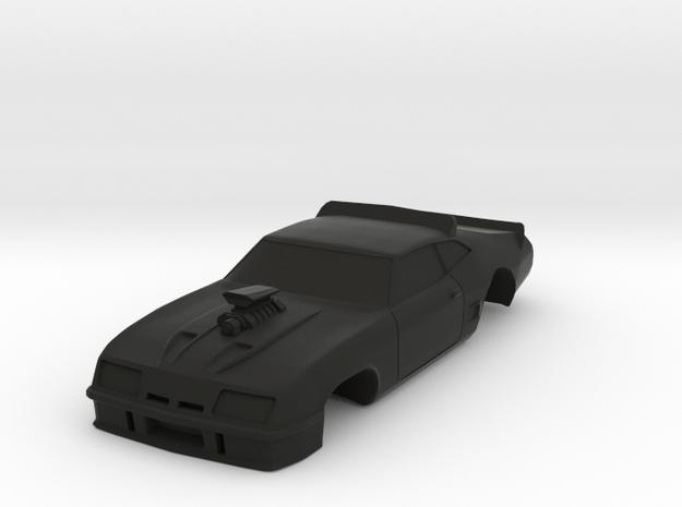 MFP Interceptor, AFX Mega G+ 1/64 Slot Car Body in Black Natural Versatile Plastic