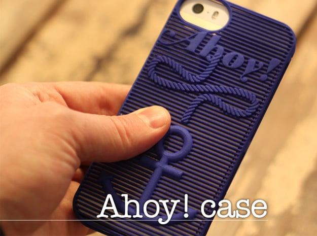 Ahoy! - case for iPhone 5/5s in Blue Processed Versatile Plastic