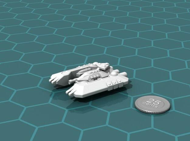Badakh Battleship in White Natural Versatile Plastic
