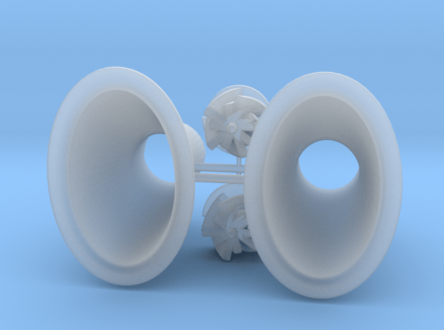 VERTICAL TURBO ASSEMBLY 2 in Smooth Fine Detail Plastic