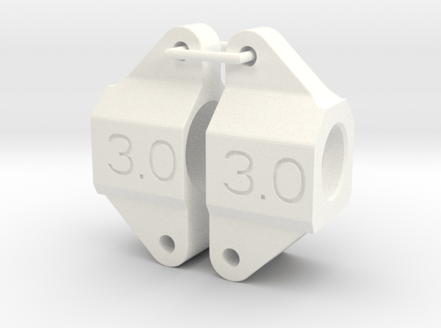 045017-02 Omega IRS 3.0 Deg Upright in White Processed Versatile Plastic