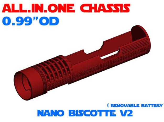 "ALL.IN.ONE - 0.99""OD - NB V2 in White Natural Versatile Plastic"