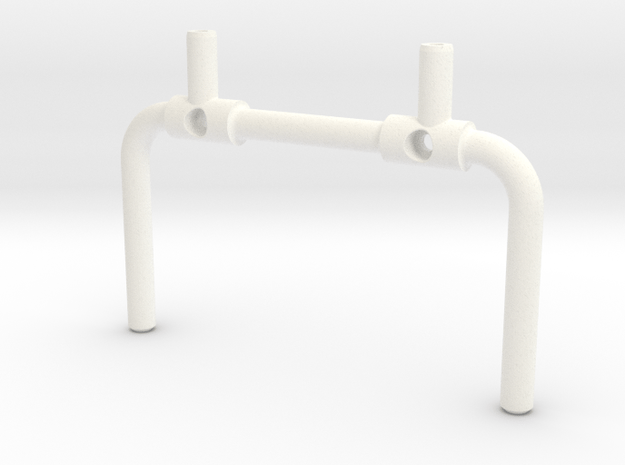 Tbb006-01 Tyco Bandit Roll Cage Upright Stock in White Processed Versatile Plastic