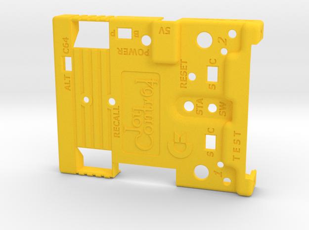 Joy-Control 64 - Gehäuse-Oben v1.1 in Yellow Processed Versatile Plastic