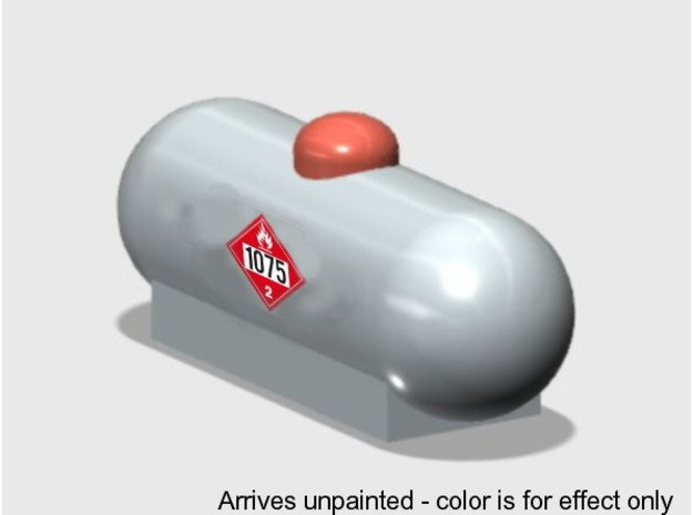 Propane Tank-1 (1 ea.) in White Natural Versatile Plastic: 1:87 - HO