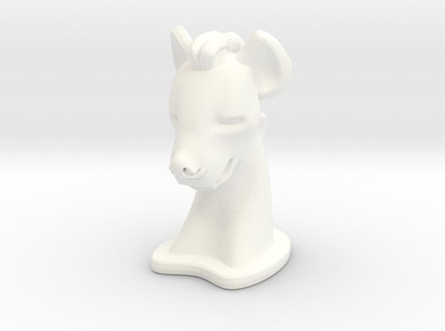 Hyena BIG in White Processed Versatile Plastic