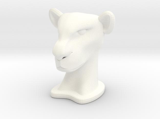 Lioness BIG in White Processed Versatile Plastic