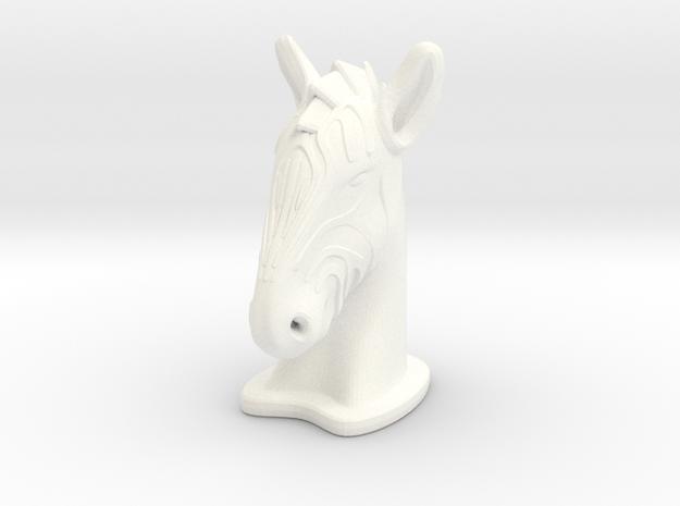 Zebra BIG in White Processed Versatile Plastic