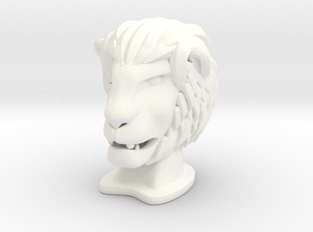 Lion BIG in White Processed Versatile Plastic