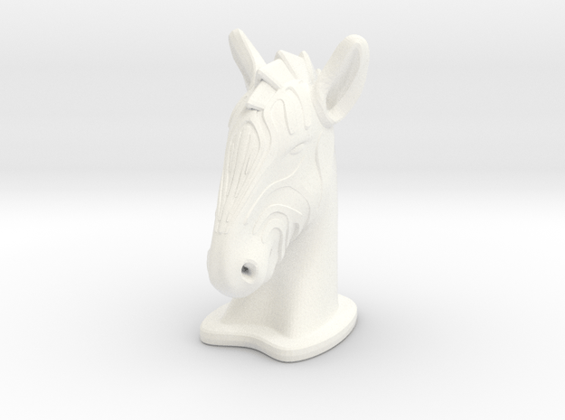 Zebra SMALL in White Processed Versatile Plastic