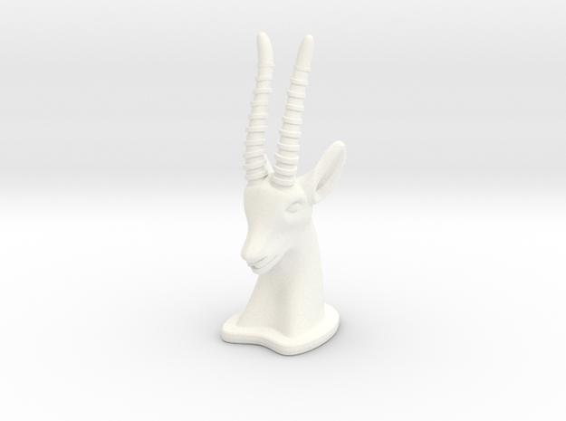 Gazelle SMALL in White Processed Versatile Plastic