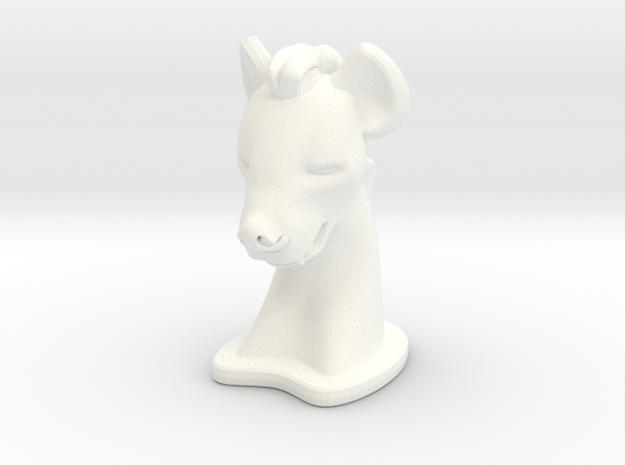 Hyena SMALL in White Processed Versatile Plastic