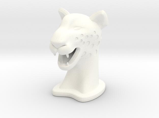 Cheetah SMALL in White Processed Versatile Plastic