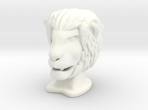 Lion SMALL in White Processed Versatile Plastic
