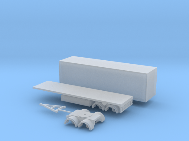 60mm Anhänger Spur N  1:160 in Smooth Fine Detail Plastic