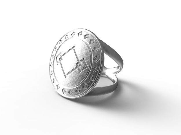 dady's ring   in Natural Silver: 9.25 / 59.625