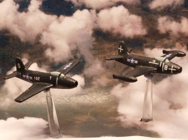 North American Aviation FJ-1 Fury (Pair) 1/285 6mm in White Natural Versatile Plastic