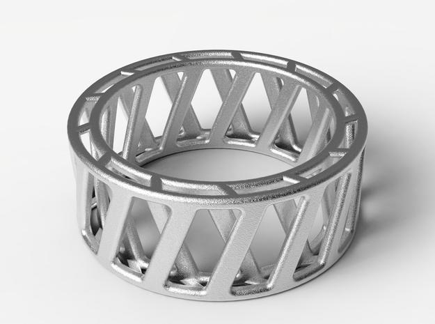 Dynamic Ring  in Polished Nickel Steel: 10.25 / 62.125