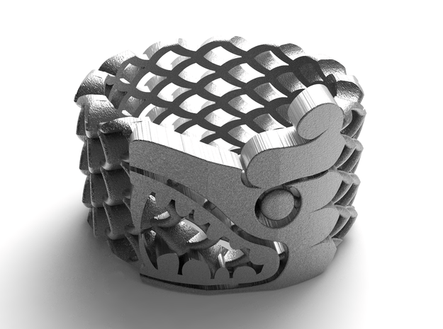 inca snake in Polished Nickel Steel: 8 / 56.75