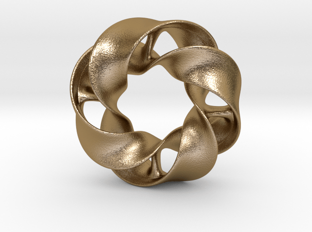 Mobious - pendant in Polished Gold Steel