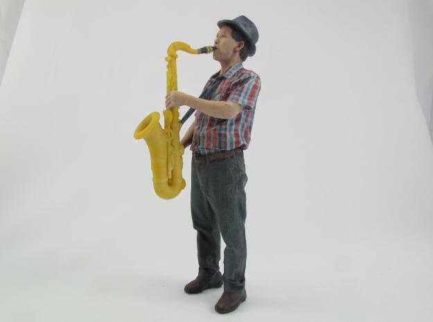 Scanned Saxophone player-818 in Full Color Sandstone