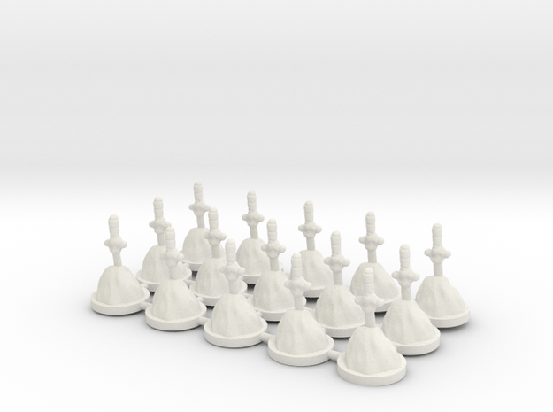 Game of Thrones Risk Pieces - Second Sons in White Natural Versatile Plastic