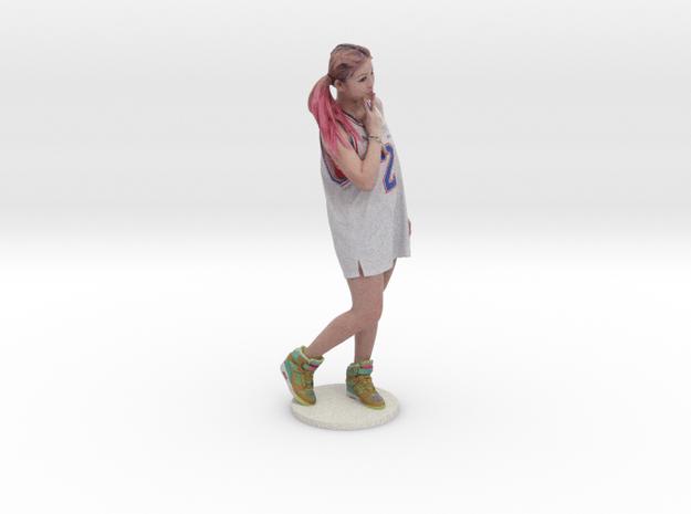 Scanned pretty Girl - 15CM High in Full Color Sandstone