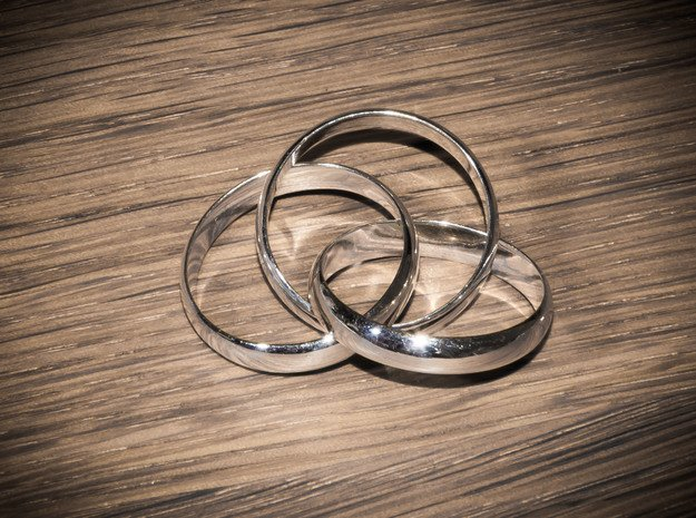 ringception in Polished Silver (Interlocking Parts): 5 / 49