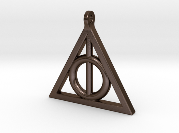 deathly hollows pendant in Polished Bronze Steel